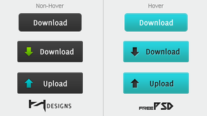 Download + Upload Buttons PSD by Henerz-Design
