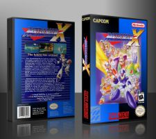 Mega Man X Custom SNES Cover by TuxedoMoroboshi