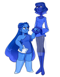 cm: star sapphire and night blue pearl by lymerikk