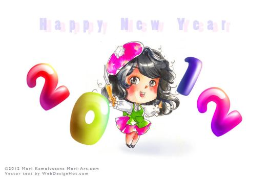 HNY 2012 Greeting Card by mori-memento