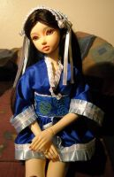 Kimono Dress on the Doll by MyScribbles