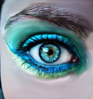 Turquoise Eye by The-Dragoness