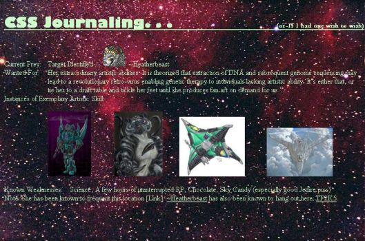 CSS Journal draft by dredclaw-2k5