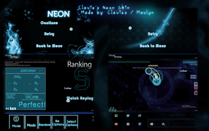 osu! Skin Preview: Clavie's Neon by Maolyn by Maolyn