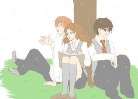 good life . golden trio by SasamiInu