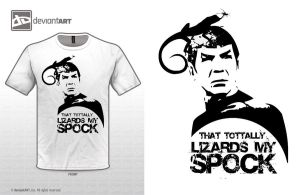 That totally lizards my Spock by paintedbrain-nz