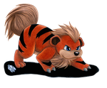 little Growlithe by Ash-Misty-Pikachu