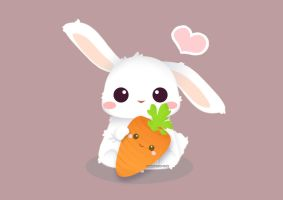 Love you, carrot! by misosazai-are