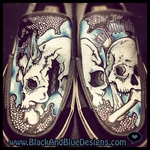 Skull Shoes by Chylde