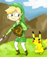 Link And Pikachu by TelloSnap