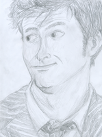 The Tenth Doctor- Sketch by DoctorNorik