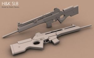 Heckler and Koch SL8 by Erghize