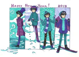 New Year Beatles by FG-Twins