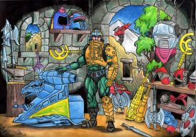 Man-at-arms workshop by danbrenus