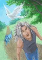 Taking Saix out for a walk by Rosaka-Chan