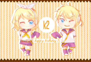 Happybirthday Kagamine Twins ! by PumpkinRabita