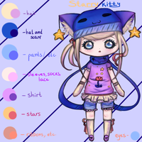 ~ Auction Adoptable: Starry Kitty ~ by Yumeaya