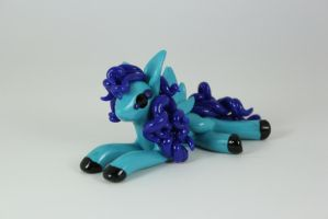 Turquoise and Blue Pegasus by ShaidySkyDesign