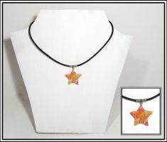 Tie Dye Star Necklace by chat-noir