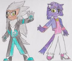 Silver and Blaze (Redesign) by JoJoStardust