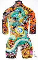 Tattoo Body Suit Poster 002 by azmousejockey