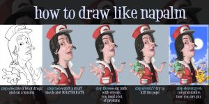 how to draw like napalm by NapalMBastarD