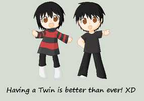 Cute Chibi Twins by Berii-Chann