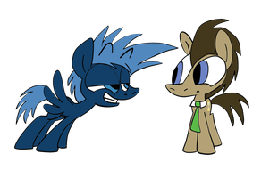 The Doctor and Jack Ponified by JoeyWaggoner
