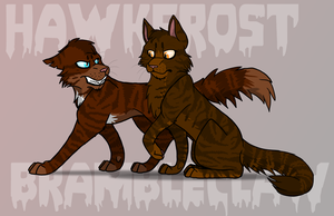 Hawkfrost and Brambleclaw by RiverBelle