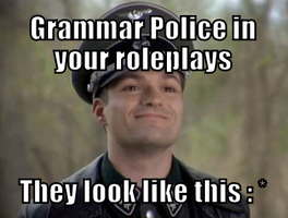 Grammar Police in your RP by SerinaElric