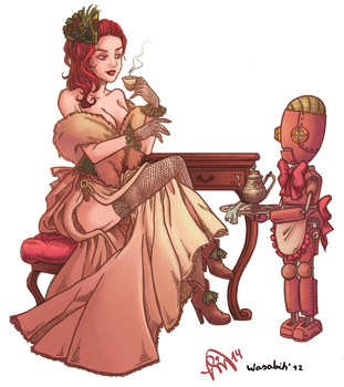 Steampunk Courtesan Color by Manuella-Malk