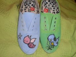 Kurt Halsey painted shoes by leighna
