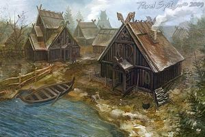 Northern village by CG-Zander