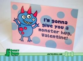 Monster Hug Valentine's Day Card by Strange-1