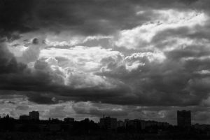 Clouds over city by saltov-man