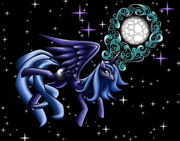 Good Evening Luna - 2 by redmanepony
