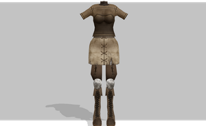 MMD peasant armor by amiamy111