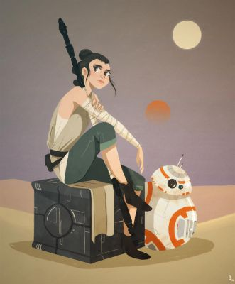 Rey and BB 8 by Ophelie-c