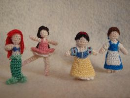 Micro-Crochet Princess Group by honouraryweasley