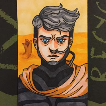 Dune Sketch Card by ghoulsandgals