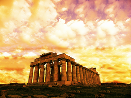 Ancient Ruins In The Sunset by fastworks