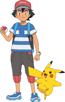 Ash SM anime (XY Style) Vector by Wildcat1999