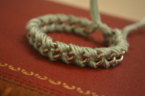 Stackable Chain and String Bracelet by TheBoomPow