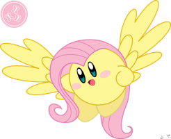 Kirby Fluttershy by silver-soldier