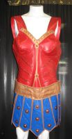 Smallville Wonder Woman corset and skirt by Vermithrax1