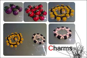 Polymer clay Charms by Jennol