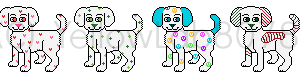 First Four Webkinz Puppies Pixels by YellowLab8078