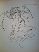 Succubus on the Grid lineart by Gwen1990