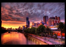 Melbourne Sunset HDR by daniellepowell82