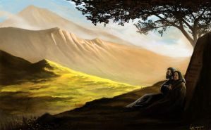 Hurin and Morwen by VictorElessar